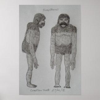 Sivapithecus sketch poster
