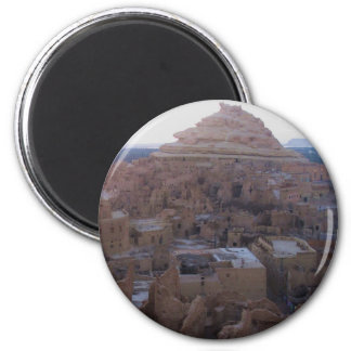 Siwa Oasis panoramic photograph Magnet