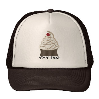 Siwrly chocolate and vanilla hats