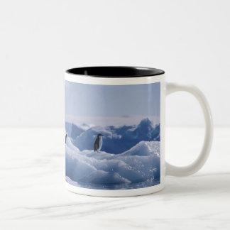 Six Adelie Penguins Pygoscelis adeliae) on an Two-Tone Coffee Mug