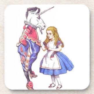 Six Alice in Wonderland coasters set