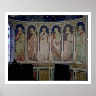 Six Apostles, c.1390 (fresco) Posters