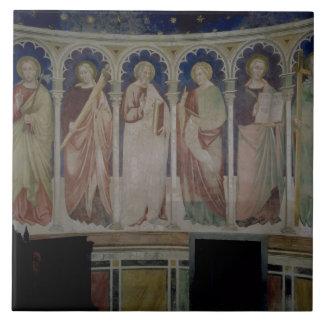 Six Apostles, c.1390 (fresco) Tile