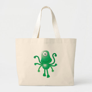 six armed alien with only one eye tote bags