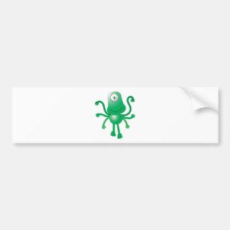 six armed alien with only one eye bumper sticker