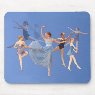 Six Ballerinas Dancing Mouse Pad