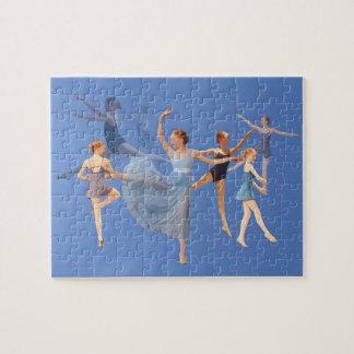 Six Ballerinas on Blue Puzzle