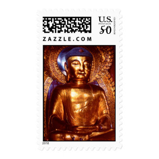 Six Banyan Tree Temple Buddha Postage Stamp