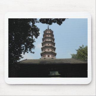 six banyan trees pagoda temple mouse pad
