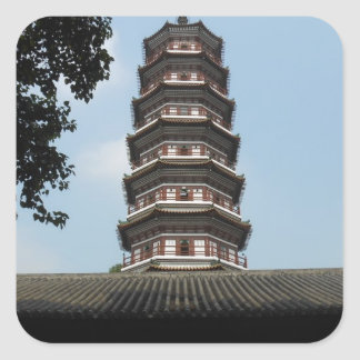 six banyan trees pagoda temple square stickers