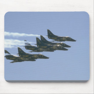 Six Blue Angel A-4s Flying Mouse Pads
