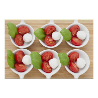 Six Caprese Appetizers Poster