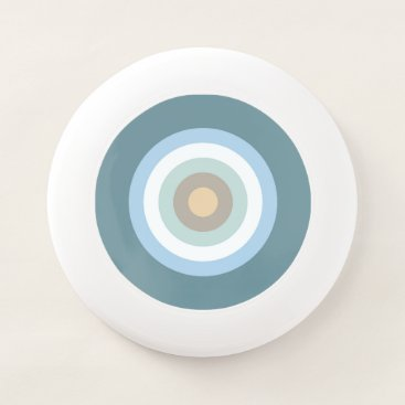 Beach Themed Six Color Combo - Blue Brown Sand Beige Turquoise Wham-O Frisbee
