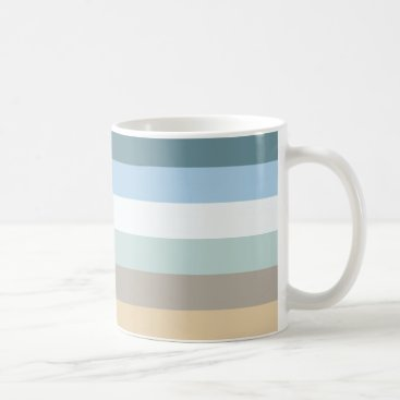 Beach Themed Six Color Combo Coffee Mug