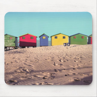 Six Colorful Beach Hut | Cape Town, South Africa Mouse Pad