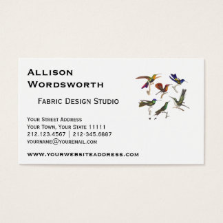Six Colorful Hummingbirds Business Card