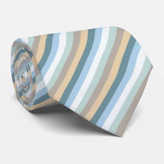 Six Colors - Blue Brown Sand Beige Turquoise White Tie
