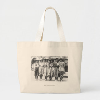 Six cowgirls at Cheyenne Frontier Days. Canvas Bag