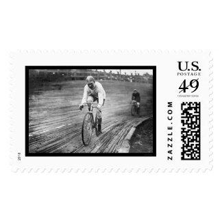 Six Day Bicycle Race 1909 Postage