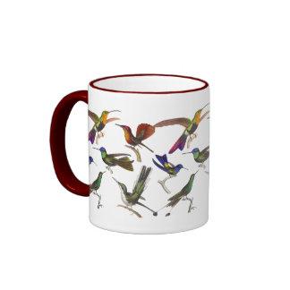 Six Different Hummingbirds Rene Primevere Lesson Ringer Coffee Mug