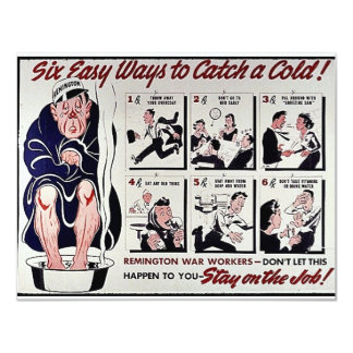 Six Easy Ways To Catch A Cold, Stay On The Job Card