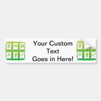 six eco stamps design taped on green.png bumper stickers