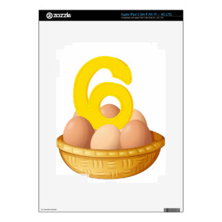 Six eggs decals for iPad 3