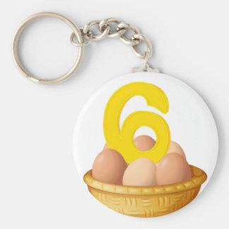 Six eggs keychain