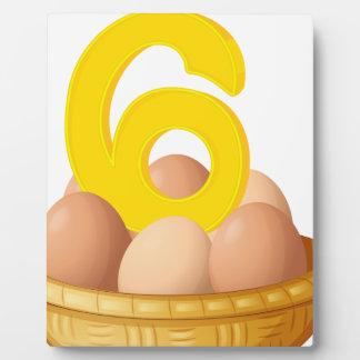 Six eggs plaque