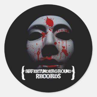 """Six Feet Underground """"Face of Death"""" Sticker"""