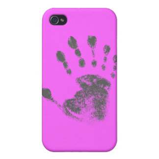 Six Finger Hand Print iPhone 4 Cases