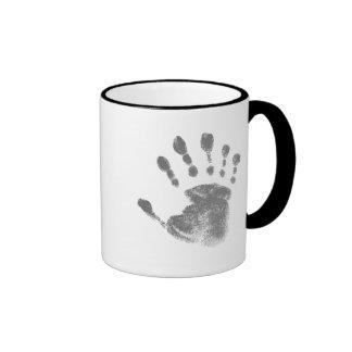 Six Finger Hand Print Mugs