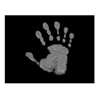Six Finger Hand Print Postcard