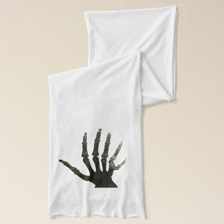 Six Fingered Hand Skeleton Bones Horror Scarf