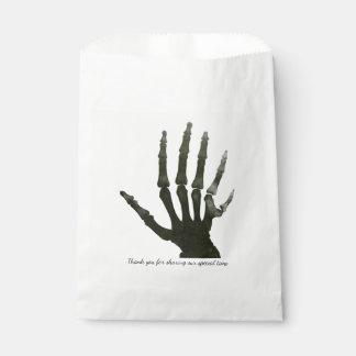 Six Fingered Skeleton Halloween Personalized Favor Bag