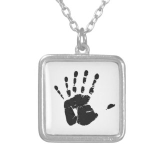 Six Fingers Silver Plated Necklace