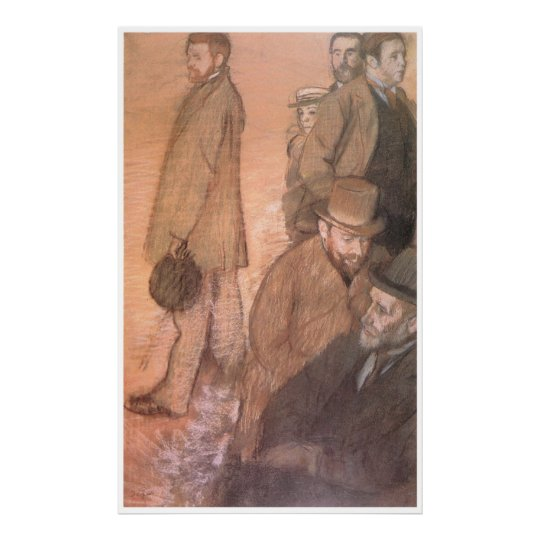Six Friends of the Artist, 1885, Edgar Degas Poster