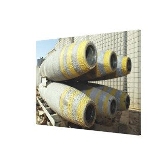 Six GBU-12 bombs sit in a rack Canvas Prints