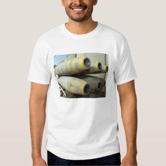 Six GBU-12 bombs sit in a rack Shirt