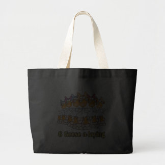 six geese a-laying 6th sixth day christmas tote bag