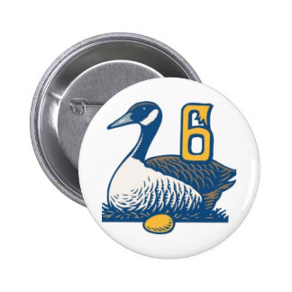 Six Geese a-Laying Pinback Buttons