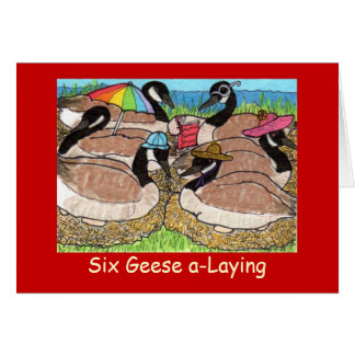 Six Geese a-Laying Cards