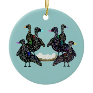 Six Geese A Laying Ornament ornament