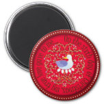 Six geese alaying 2 inch round magnet