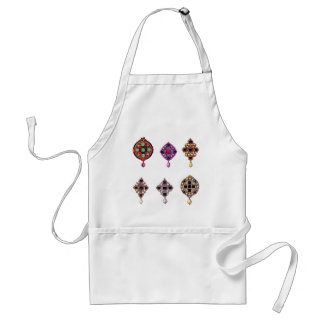 Six Gem Pendants Adult Apron