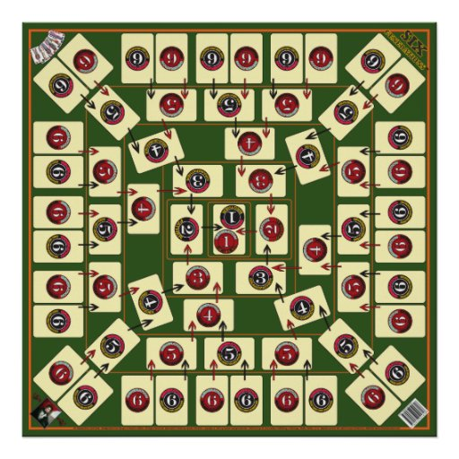 Six Generations Board Card Game - Genealogical Map Poster : Zazzle
