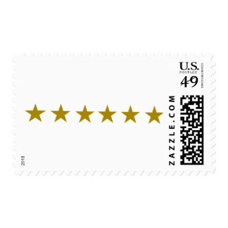 Six Golden Stars Stamps