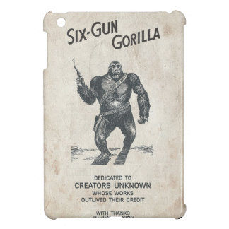 Six-Gun Gorilla Machine Gun 40s Movie ChimpScienc Case For The iPad Mini