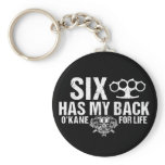 Six Has My Back Keychain