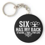 Six Has My Back Keychain